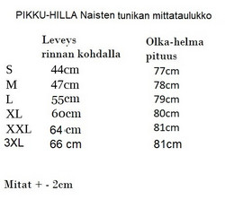 AAVA tunika taskuilla, 3/4-hihainen Riikinkukko XS-3XL joustocollege