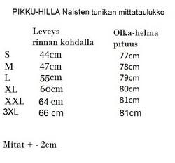 AAVA tunika pitkähihainen, Riikinkukko XS-3XL joustocollege