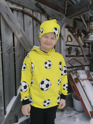 TÄHKÄ Huppari Jalitsu keltainen taskuton ja taskullinen 86-152cm  joustocollege