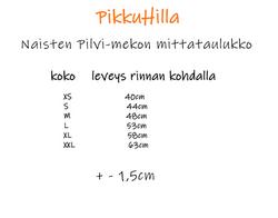 PILVI mekko Salmiakkikennot XS-XXL joustocollege, 2 pituutta