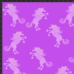 TRIKOO Yksisarvinen violetti leveys n. 160cm
