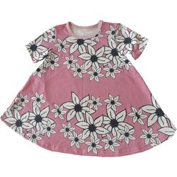 SÄDE liehumekko lyhythihainen Liljameri roosa 86-152cm trikoo