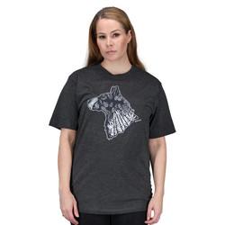 T-paita graafisella koirakuvalla, harmaa
