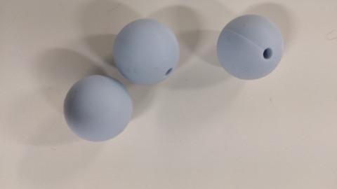 Silikonihelmi vaaleansininen