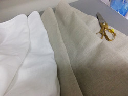 Verhojen ompelu, pitkät verhot