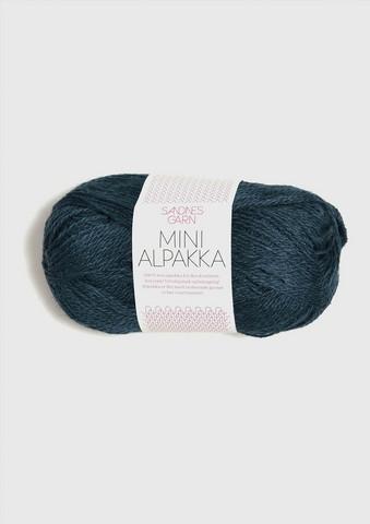 Mini Alpakka 6572 meleerattu tummansininen