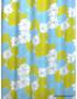 Verho- ja sisustuskangas Turkoosi kukka