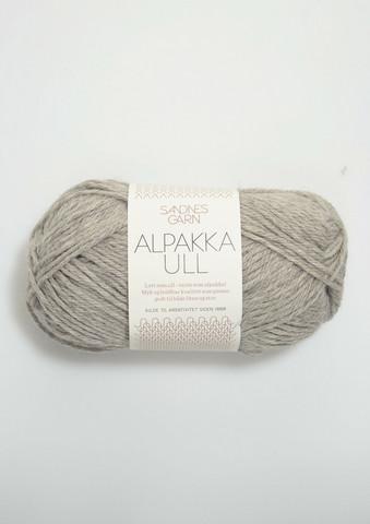 Alpakka Ull vaaleanharmaa 1042