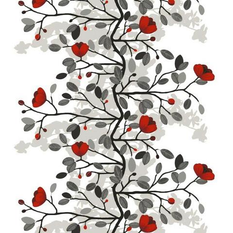 Verho- ja sisustuskangas Ofelia punainen