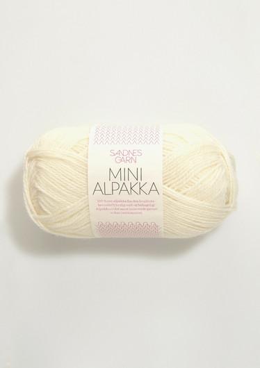 Mini Alpakka 1012 luonnonvalkoinen