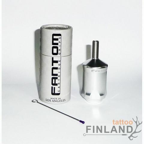 Fantom Aluminum Tube Cartridge Grip - Platinum Silver 32 mm