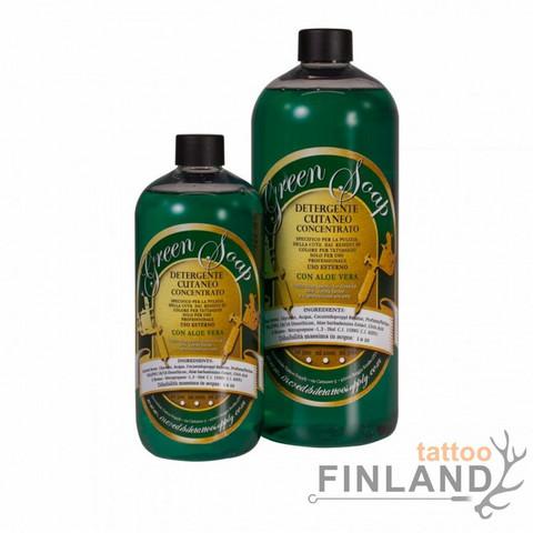 Laoro Paolini Green soap concentrated with Aloe Vera 500 ml