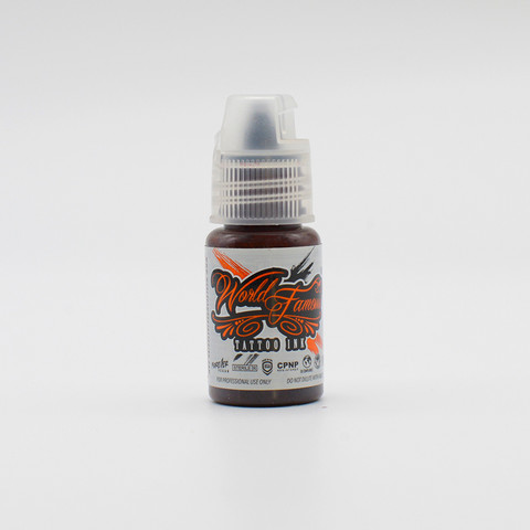 World Famous tattoo ink Dark Brown ink, Jay Freestyle Watercolor ink 15 ml