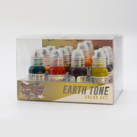 World Famous tattoo ink Earth Tone Ink Set 30 ml