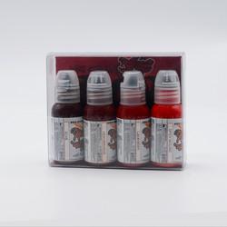 World Famous tattoo ink Maks Kornev's Blood Color Set 30 ml