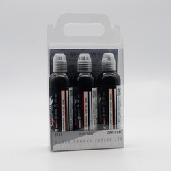 World Famous tattoo ink Charcoal Greywash Set 120 ml