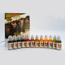 World Famous tattoo ink Earth Tone Ink Set 30 ml