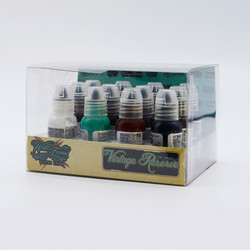 World Famous tattoo ink VINTAGE RESERVE Set 30 ml