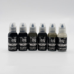 World Famous tattoo ink Poch Monochromatic Set 30 ml