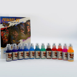 World Famous tattoo ink Primary Color Ink Set #2  30 ml