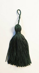 Dark green tassel pair