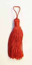 Red tassel pair