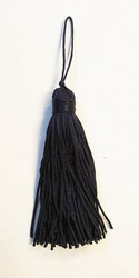 Navy tassel pair