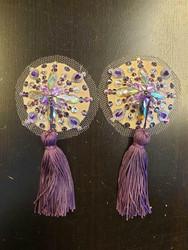 Illusion purple tassels