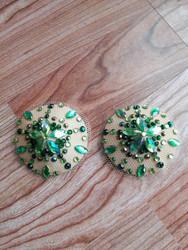 Nude green pastie