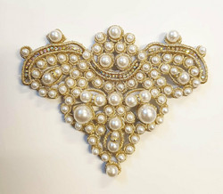 Beaded applique gold