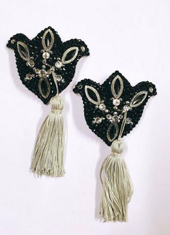 Black & crystal tasselit