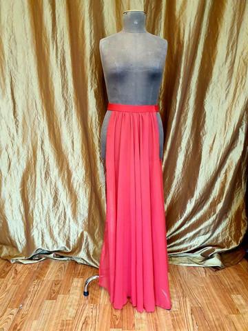 Panel skirt red, waist 85-95cm