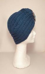 Knitted turban Petrol