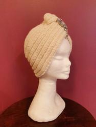 Knitted turban Cream