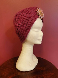Knitted turban Raspberry pink