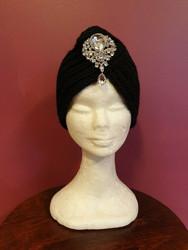 Knitted turban black