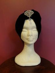 Velvet turban Black