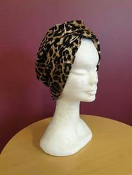 Tricot turban leopard