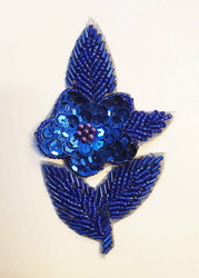 Sequin applique flower