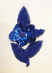 Sequin applique flower