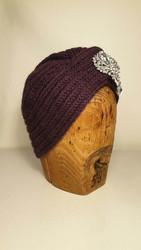 Knitted turban Purple