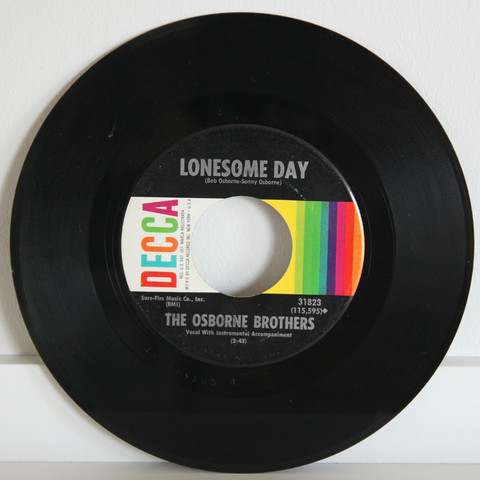 Osborne Brothers: Lonesome Day / I'll Be Allright Tomorrow