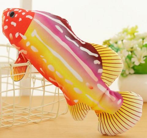 Motorisoitu kalalelu 27 cm, kelta-oranssi-violetti-valkea