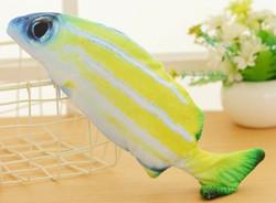 Motorisoitu kalalelu 27 cm, kelta-valkea-vihreä