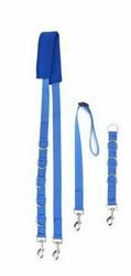 Vyö trimmaustankoon +jatko-osa ja kaulapidike, sininen