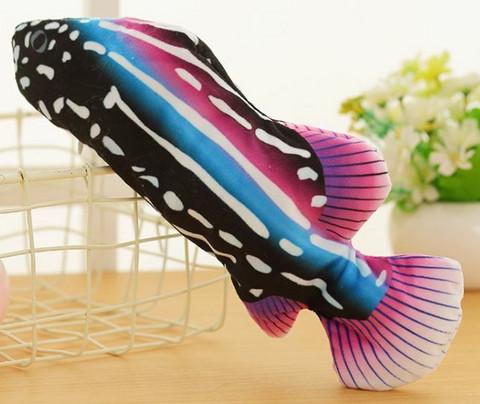 Motorisoitu kalalelu 27 cm, musta-sininen-violetti-valkea