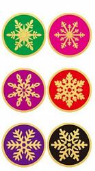Tarra, lumihiutale 25 mm, 100 kpl, värikäs