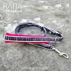 Finnero Ratia Sport säädettävä talutin 2 cm * 120-200 cm, punainen