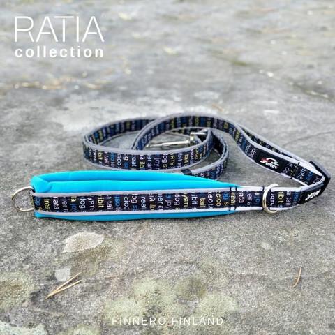 Finnero Ratia Sport säädettävä talutin 1,5 cm * 120-200 cm, sininen