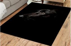 Matto 100x150 cm, musta koira